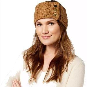 Micheal Kors Three Button Cable Knit Headband